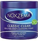 Noxzema Crème nettoyante en profondeur - Formule originale à l'huile d'eucalyptus - 415 ml
