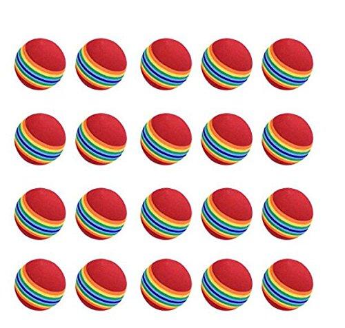 nicebuty Praxis Golfbälle, 20Stück, Schaum, Regenbogen Farbe, für Innenbereich/Außenbereich Golf Praxis (Praxis-schaum)