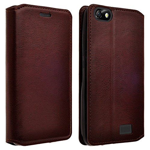 GALAXY WIRELESS iPhone 6s/iPhone 6 Case - Magnetic Leather Folio Flip Book Wallet Pouch Case Cover with Fold Up Kickstand For iPhone 6s/iPhone 6 - Brown Slim Flip Case