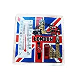 London Thermometer Magnet, alle London Icons on Union Jack Hintergrund. Classic, robustem Acryl British UK Collectible Magnet. Fun, Allwetter-Best in Class Souvenir Collectible Magnet/Thermometer.