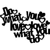 Marabu 028900013 - Silhouette Schablone Do what you love, 30 x 30 cm
