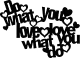 Marabu 028900013 - Silhouette-Schablone Do what you Love, 30 x 30 cm