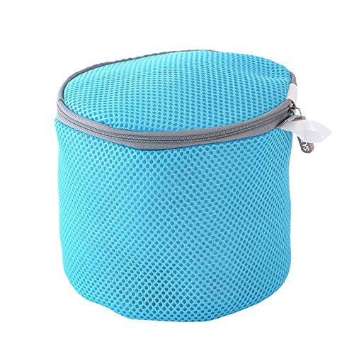baffect keine Verformung BH Dessous waschen Tasche Schutz Wäschekorb Frauen Strumpfwaren Wäschesäcke Nylon Material Langlebig Waschen, blau, - Bh Waschen Protector