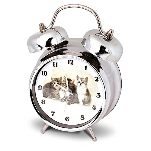 Launch Innovative Products Kate - Reloj despertador con sonido de maullido de gato.