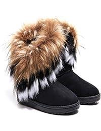 MEILI-L imitazione di volpe di inverno della signora della pelliccia con  gli stivali di cotone tubo nuovi scarponi da neve… 6fb37b1c2b8