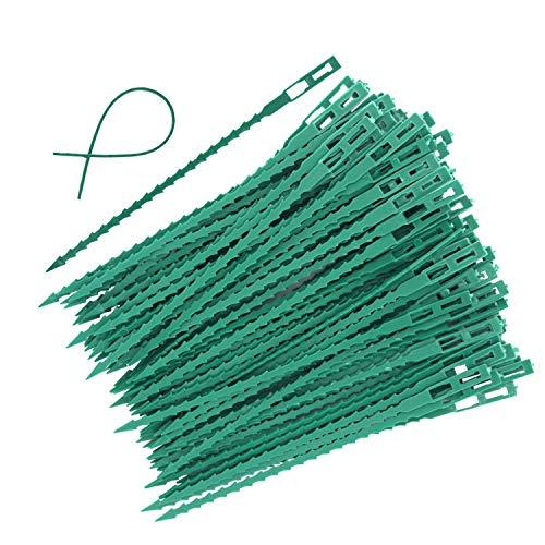 Xigeapg 100 Stücke Einstellbare Garten Pflanze Twist Krawatten, 6,7 Zoll Flexible Kunststoff Twist Krawatten Multi-Use Für Sichere Rebe (Grün) (Krawatten Twist Flexible)