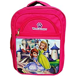 Worldcraft Princess 16 inch Pink Waterproof Children's School Backpack (BeeCrownWCAr)