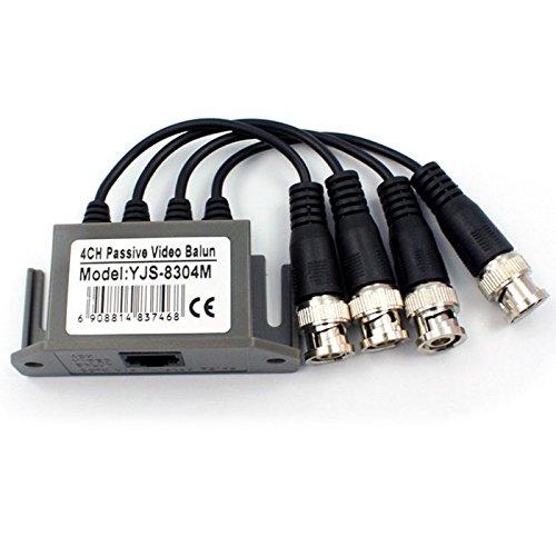 4Ch Passives Video Balun BNC-Kabel Transceiver auf UTP Cat5 für CCTV-Kamerasystem -