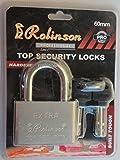 #5: Rolinson Top Security Lock,Office, Door, Gate, Silver Tone Security Lock Padlock + 4 Keys