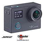 Somikon Aktioncam: 4K-Action-Cam für UHD-Videos mit 2 Displays & 16-MP-Sony-Sensor, IP68 (Digitalkamera)