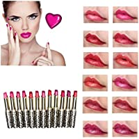 ¡ Venta caliente!Lápiz labial,Internt 12pcs/lot mucho leopardo hidratante labial Stick Set de maquillaje