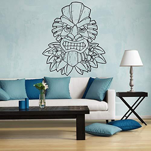 Shentop Muster Tiki Hawaii Wand Vinyl Aufkleber Aufkleber Sofa Hintergrund Dekor Maske Totem Entfernbare Wandaufkleber Dekoration 43 * 61 cm