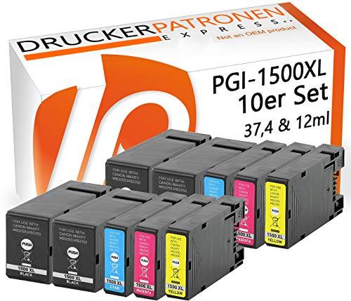 Bubprint 10 Druckerpatronen kompatibel für Canon PGI-1500 XL PGI-1500XL PGI 1500 1500XL für Maxify MB2050 MB2150 MB2155 MB2350 MB2750 MB2755 Multipack -