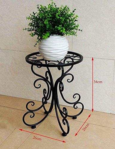 CWJ Pot de Fleur Style européen Fer Simple Balcon intérieur et extérieur Plateau décoratif économie d'espace