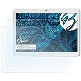 Bruni Pellicola Protettiva per Mediacom SmartPad Go 10 Pellicola Proteggi - 2 x Cristallino Protezione Pellicola dello Schermo