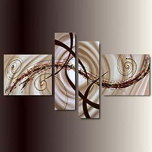Art mmb romantica marrone 4 quadri moderni astratto for Quadri piccoli moderni