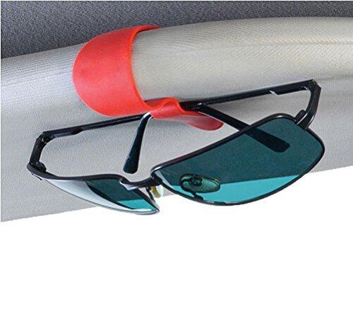 Woogor 2 Pcs set Car Sunglasses Sun Visor Clip Eye Glasses Clips Card Pen Ticket Holder Auto Fastener Holder Tools (Random Color)  available at amazon for Rs.199