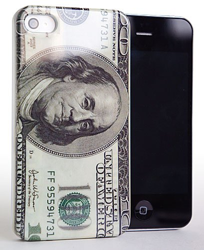 CASEiLIKE ® - US Dollar 100 Bill americano soldi modello Snap-on hard case cover posteriore per Apple iPhone 4 / 4S / 4G / 4GS - con SCREEN PROTECTOR (anteriore e posteriore)