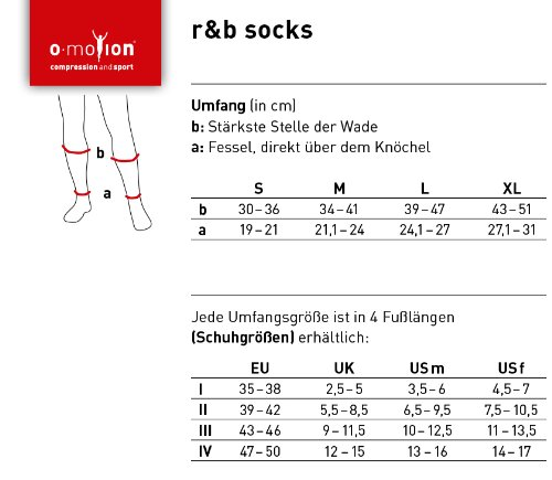 O-motion recovery & business Kompressions-Kniestrümpfe, Schuhgröße 39-42, Umfang M, Farbe Schwarz