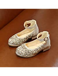 f3df8ae42 Yzibei Fantasía Zapatos Individuales Zapatos de Baile Baile Lentejuelas  Zapatos de Cuero para niñas Estudiantes Baile
