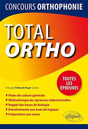 Total Ortho Toutes les preuves Concours d'Orthophonie