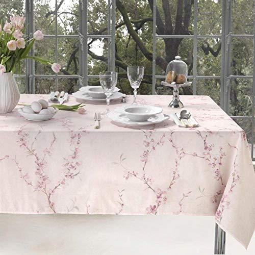 Tovaglia da tavola senza tovaglioli in panama di cotone 100% stampa digitale Vallesusa Casa art. April dis. 18993 (150x 220 rett. x 8)