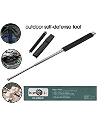 BAMBBLE® Tactical Heavy Steel Stick for Camping and Trekking Pole