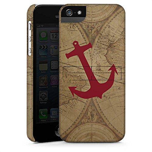 Apple iPhone 6s Hülle Premium Case Cover Anker Maritim Sommer Weltkarte Premium Case StandUp