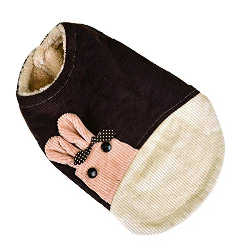 Handfly Hundebekleidung für Kleine Hunde Hundemantel Hooded Winterjacke Hundekleidung mit Kapuze Hundemantel Hundejacke Hundepullover Warm Winter Welpen Katzen Overcoat für Kleine Hunde