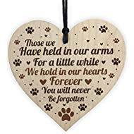 RED OCEAN Pet Memorials Cat Pet Memorials Dog Wooden Heart Remembrance Grave Plaque Keepsake Gift