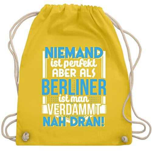 Städte - Niemand ist perfekt Berliner - Unisize - Gelb - WM110 - Turnbeutel & Gym Bag