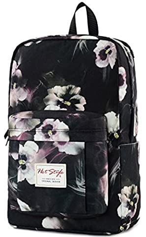15.6-inch Laptop Backpack - HotStyle 599s Waterproof Fashion Floral College