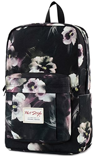 15.6-inch Laptop Backpack - HotStyle 599s Waterproof Fashion Floral College Bookbag