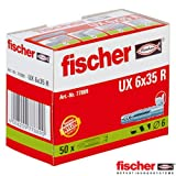 Fischer UX6X35R 077889 Universaldübel 6 x 35 mm 50er Pack 2er Blister