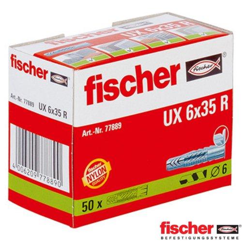 fischer-ux6x35r-tacos-universales-6-x-35-mm-2-paquetes-de-50-unidades
