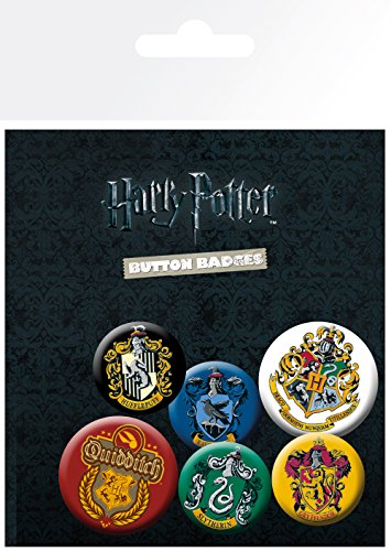 Harry Potter Pin Badges 6-Pack Crests Chiodini Spille