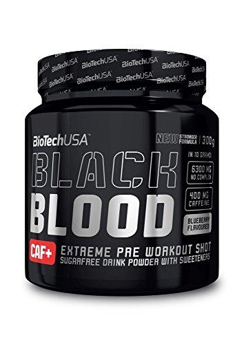 nanobiotechnologie chusa Black Blood caf + 330g bleue Raisin–Formule de pre Workout Radical avec 400mg, Complexe de NOX, sans Creatin, la caféine pour Extreme besoins.