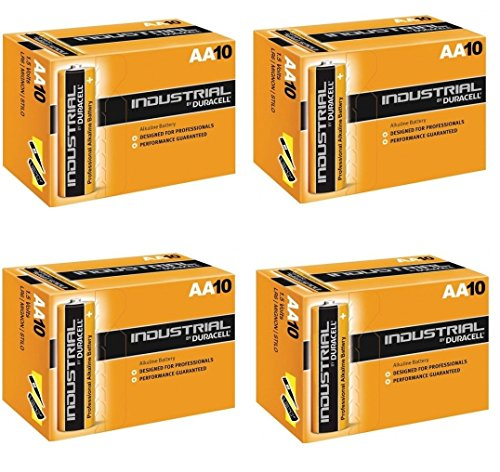 Duracell INDUSTRIAL Battery Alkaline 1.5V AA Ref MN1500 Pack 10, 20, 30, 40, 50 !! (Lot de 40)