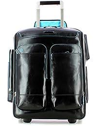 Piquadro Blue Square Trolley-mochila - CA3797B2 (Negro)