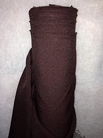 Tissus BURLINGTON infroissable MARRON CHOCOLAT nappe habillement au 0.50 metre