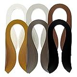 Juya Papier Quilling Set 600 Streifen 6 Farben 39cm Länge / Streifen Papierbreite 3mm