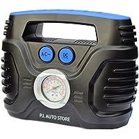 P.I. Auto Store - Tyre Inflator - Dual Electric Power 12V DC (vehicle) 220V - 240V AC (mains). Portable Air Compressor Pump - with storage bag…