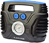 Picture Of P.I. Auto Store - Tyre Inflator - Dual Electric Power 12V DC (vehicle) 220V - 240V AC (mains). Portable Air Compressor Pump - with storage bag…