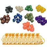 9 Colors x 7 (63 Pieces) Polyhedral Dice...