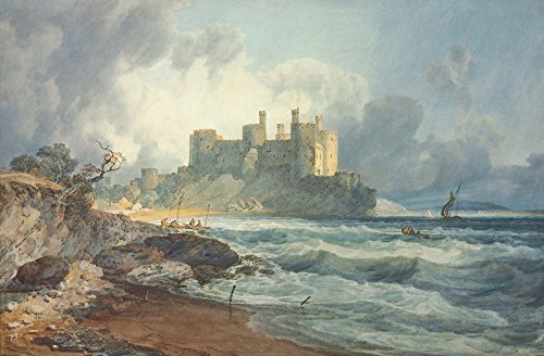 Das Museum Outlet-Conway Castle, North Wales, gespannte Leinwand Galerie verpackt. 29,7x 41,9cm