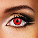 Funky Vision Kontaktlinsen - 12 Monatslinsen, Devil Red, Ohne Sehstärke, 1 Stück