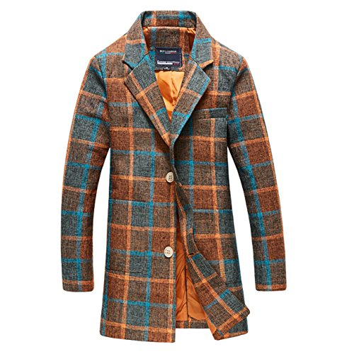 YL - Manteau - Trench - Homme Orange