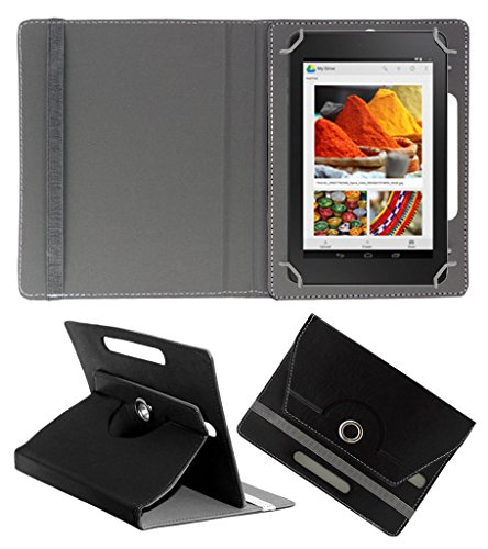 Acm Rotating 360° Leather Flip Case For Dell Venue Cellular 7 Tablet Cover Stand Black  available at amazon for Rs.149