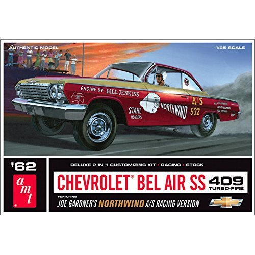 AMT 1/25 Scale 1962 Chevy Bel Air Super Stock Plastic Model Kit by AMT - Stock Model Air