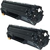 Prestige Cartridge CE285A Pack de 2 Cartouches de Toner compatible avec Imprimantes HP Laserjet Pro P1102/P1102W/M1210/M1212/M1213/M1217/M1130/M1132/M1134/M1136